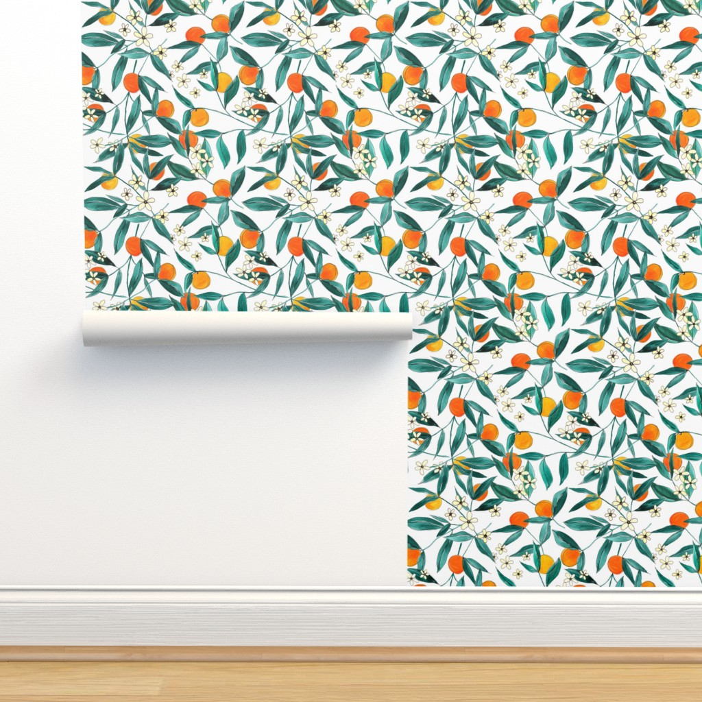 Isobar Durable Wallpaper featuring Orange Summer by joy&ink