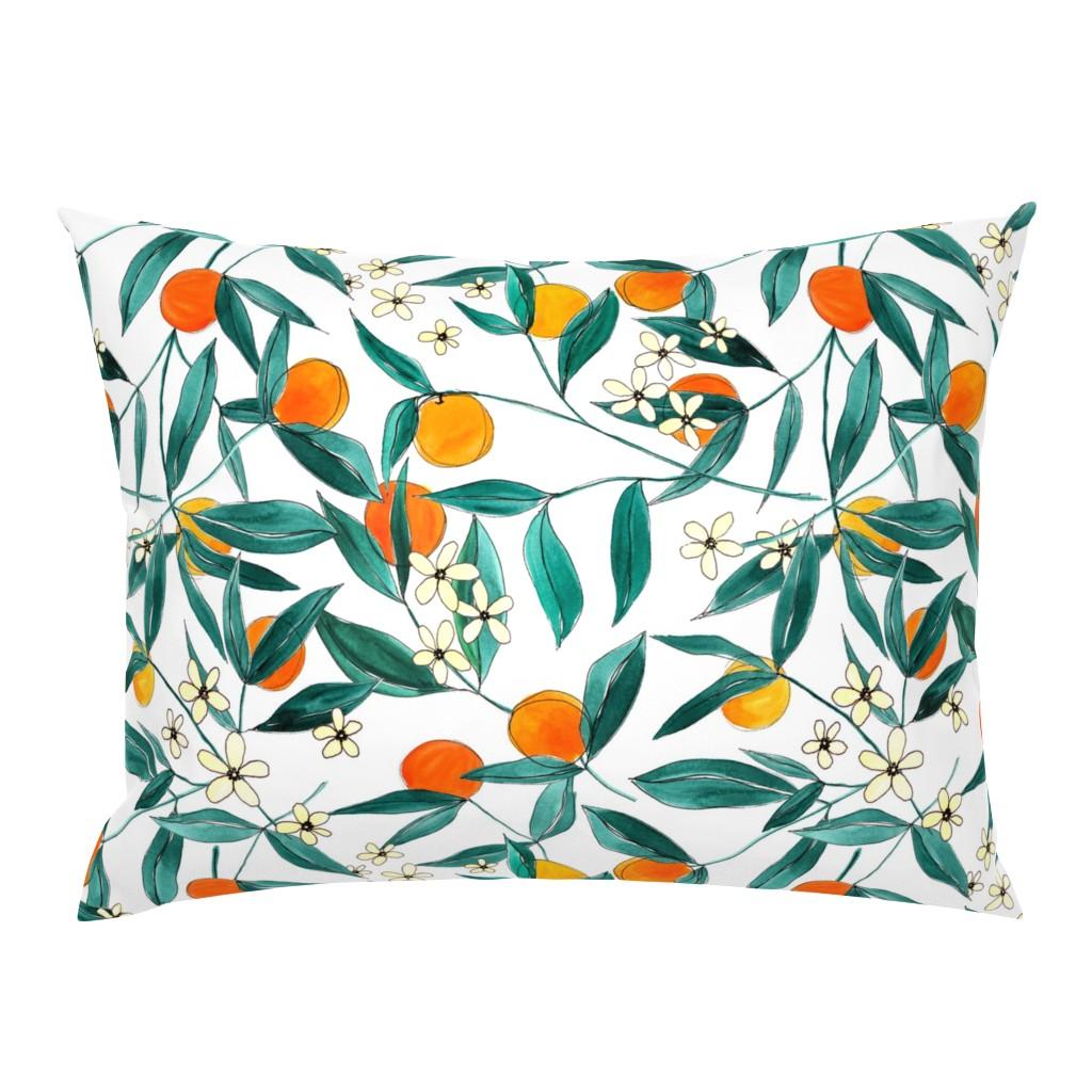 Campine Pillow Sham featuring Orange Summer by joy&ink