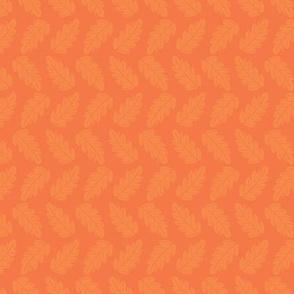 Tonal Leaves in Fall Orange