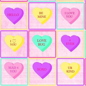 Valentines Day Candy Hearts Conversation