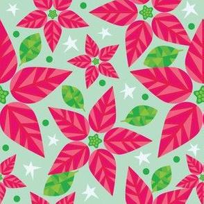 Red Poinsettia Stars