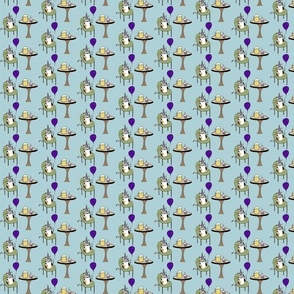 party_cat_beer_cupcake_fabric
