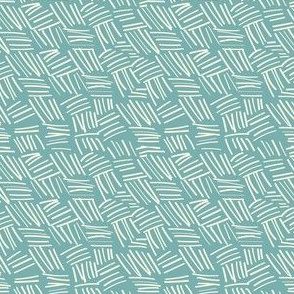 chicken scratch plaid aqua