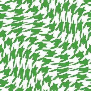 Christmas green houndstooth twist