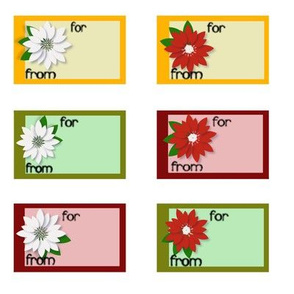 Poinsettia Labels 1