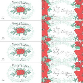 Poinsettia Christmas Gift tags // for Presents