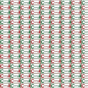 Pembroke Welsh Corgi sploot Christmas name tags B