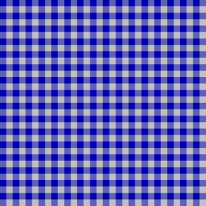 """cobalt and silver gingham, 1/4"""" check"""
