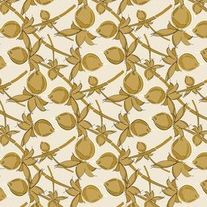 Gold Berries on cream_Miss Chiff Designs