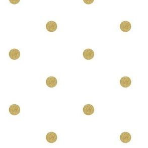 Gold Glitter Dots on White _ Miss Chiff Designs