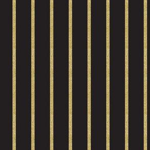 Glitter Gold Stripe on Black