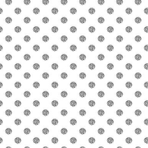 "1"" silver glitter polka dot_miss chiff designs"
