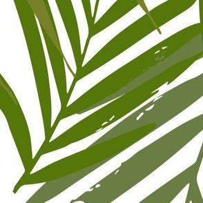 Palm leaf - green on white greenery tropical Palm leaves Palm tree