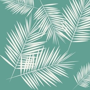 Palm leaf - tropical aqua green Palm leaves Palm tree tropical summer fun