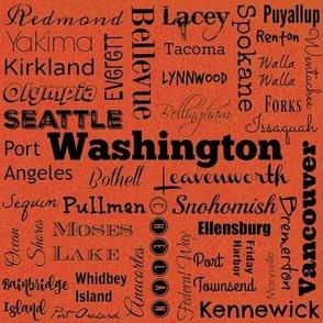 Cities of Washington, bright orange