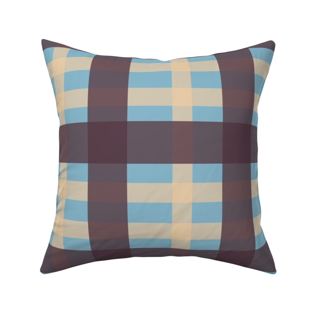 Catalan Throw Pillow featuring Emily 1990's Blue by cireedesigns