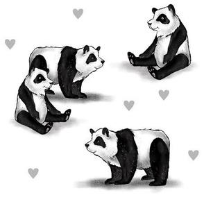 Pandas and Hearts