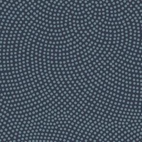 Fibonacci-flower polkadots - slate on navy