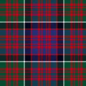 "MacDonald of Clan Ranald tartan, 6"" red"