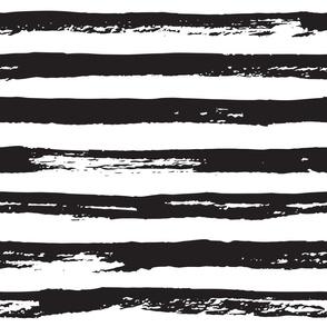 Paint brush grunge stripes black and white