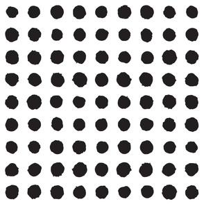 Paint brush polka dots