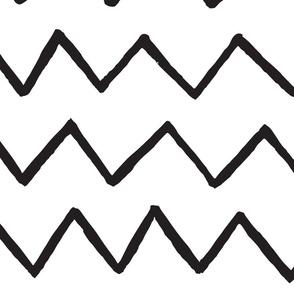Marker zig-zag black lines