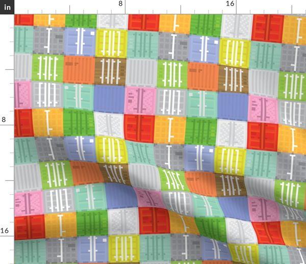 Tissu Au Mètre Pixel Art Boîte Livraison Pixel