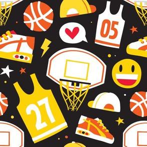 Basketball stuff black