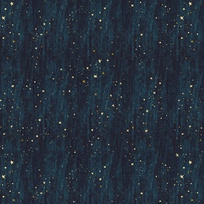 Horizontal Night Sky Stars Midnight Blue dark blue non-directional
