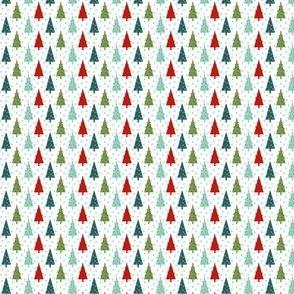 tiny christmas trees mini christmas print micro christmas trees red and green christmas fabric