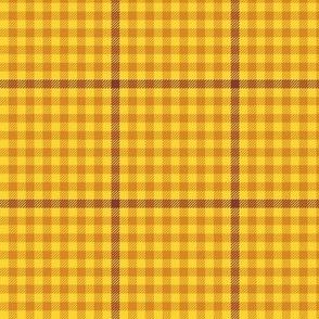 tartan check - autumn yellow