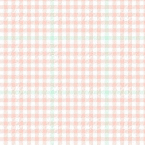 tartan check - pink and mint