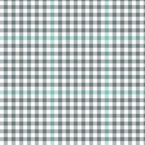 grey and teal tartan check