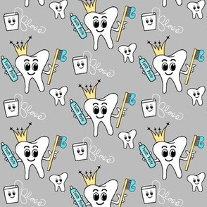 Crown/floss  -  tooth/teeth/dental  GREY