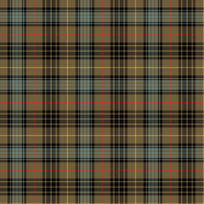 "Stewart hunting tartan, 6"" weathered"