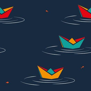 Boats and goldfishes