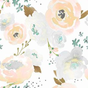 Indy Bloom Design Peachy Grey florals B
