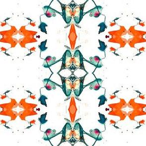 Ethnic watercolor kaleidoscope  ornament