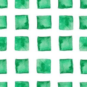 Watercolor block in green color