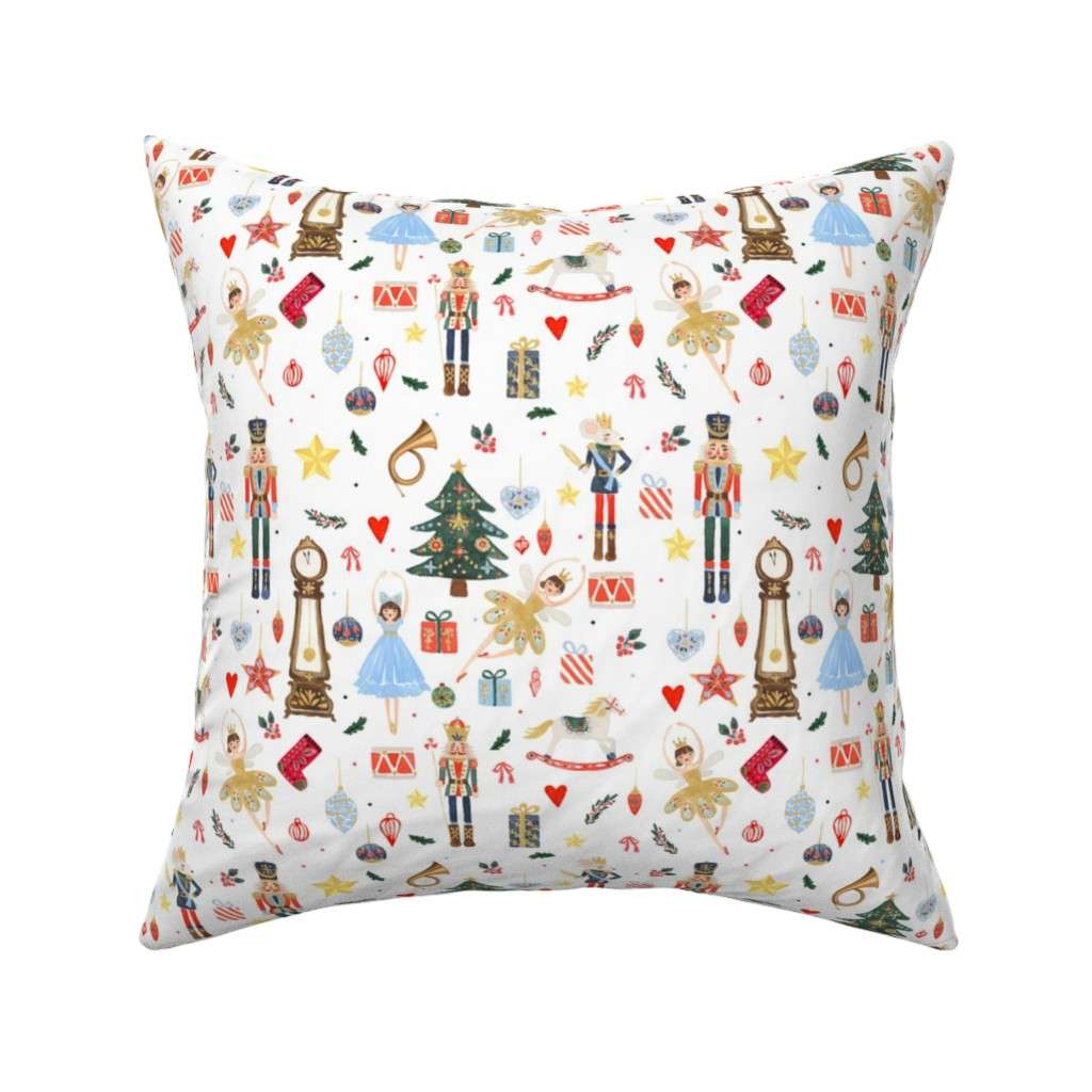 """Catalan Throw Pillow featuring 8"""" Winter Dreams Nutcracker / Toy Soldier 8 """" by shopcabin"""