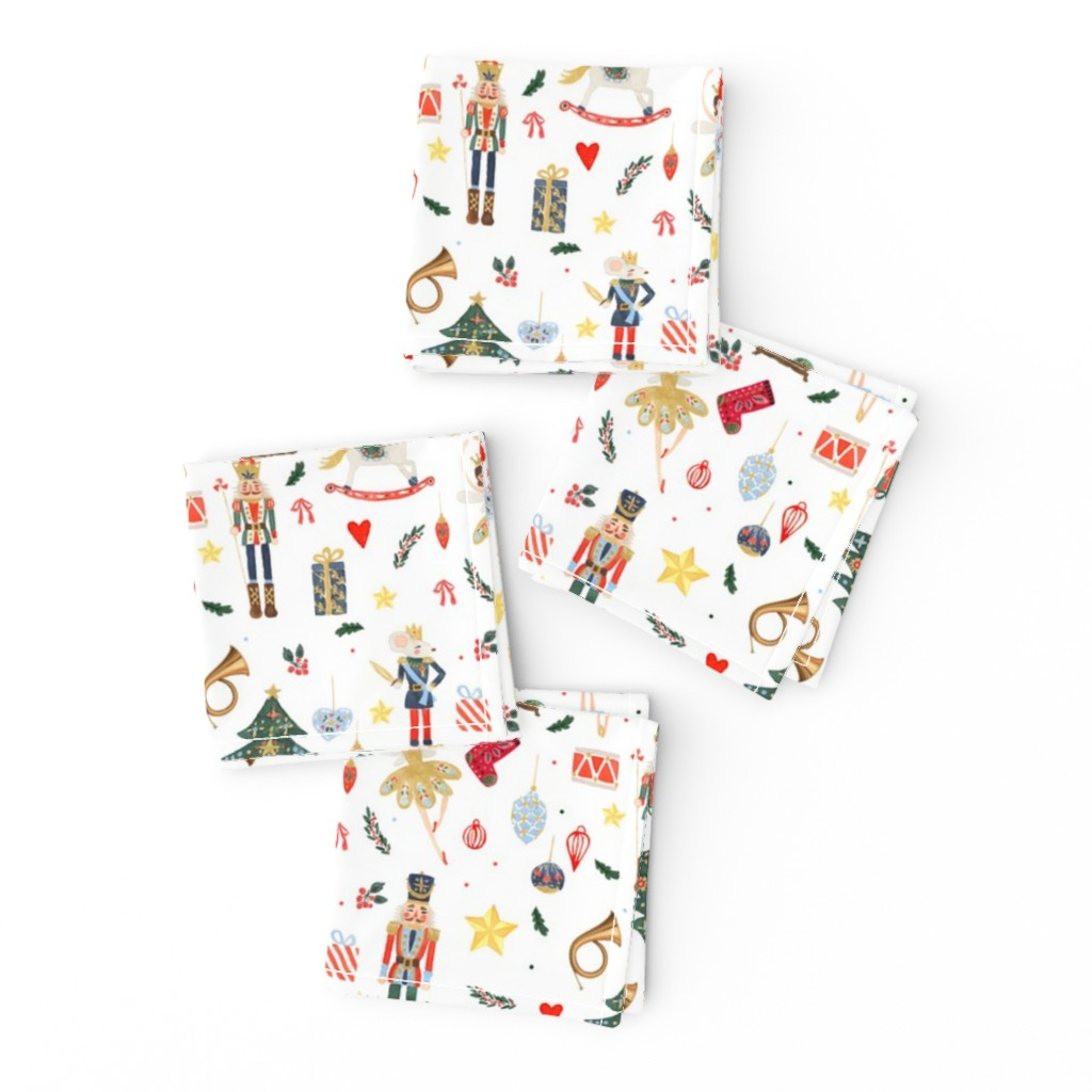 """Frizzle Cocktail Napkins featuring 8"""" Winter Dreams Nutcracker / Toy Soldier 8 """" by shopcabin"""