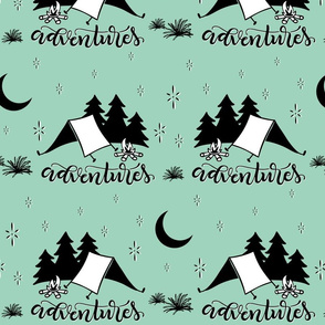 Adventures - Mint background