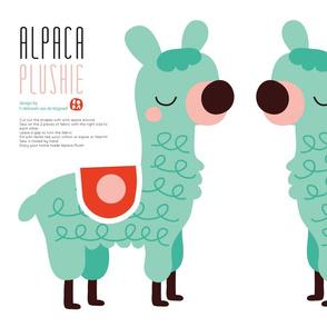 Alpaca plush on Minky!