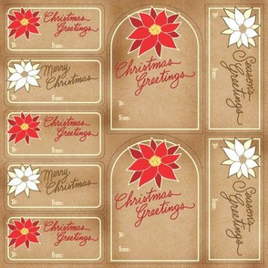 Poinsettia Gift Tags ©Julee Wood