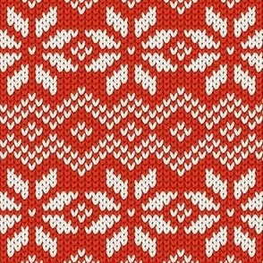 Red knitted ornament