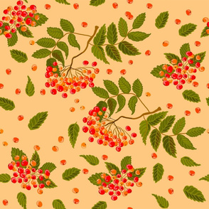 Berry and leaf pattern