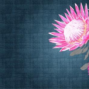 South Bound Bride Protea Tea Towel One