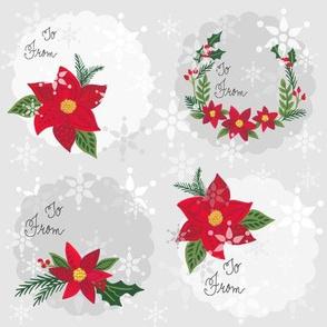 Poinsettia Snowflakes