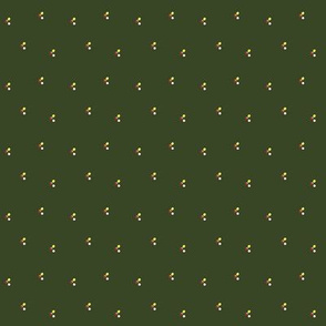 Spring Spots on dark green grass