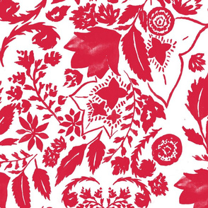 red-antique-floral